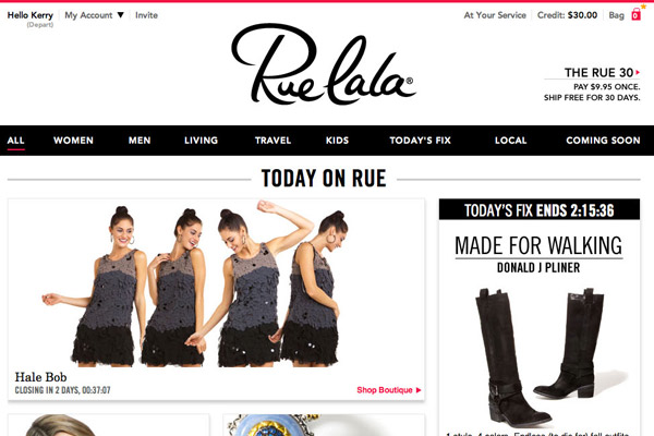 RUELALA: shop today's must-have brands for her, him, home, and more – all up to 70% off.