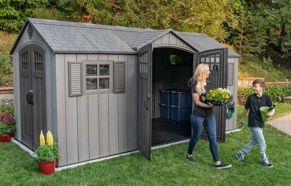 SAM'S CLUB: Lifetime 15′ x 8′ Rough Cut Dual-Entry Outdoor Storage Shed $1,599
