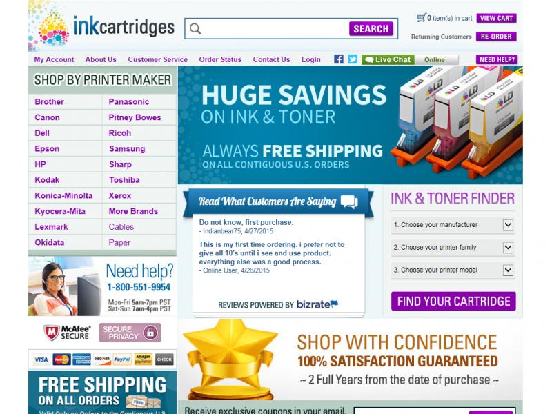 INKCARTRIDGES: Big Discounts, Big Savings on printer ink cartridges for all printer brands . Low-cost cartridges for inkjet and laser printers.