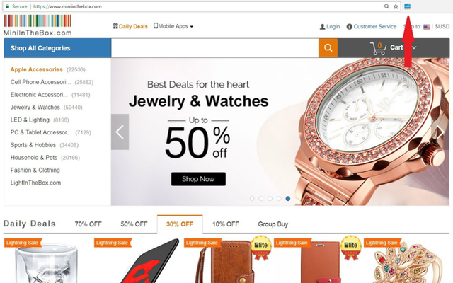 MiniInTheBox: offers wide selection of Cool Gadgets, electronic gadgets at cheap price; find new and cool gadgets for time limit of 50% discount
