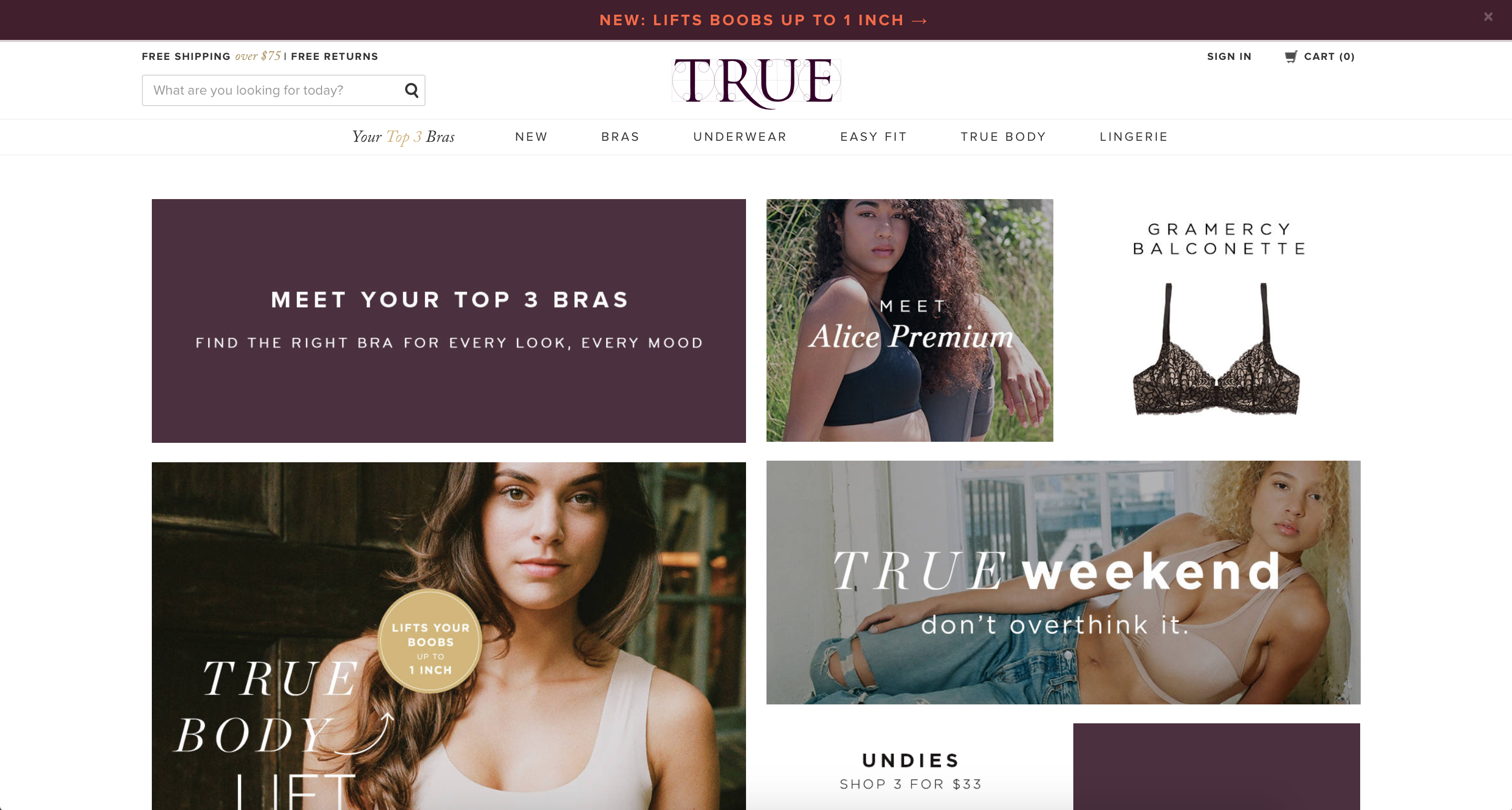 TRUE & CO: Shop women's lingerie and everyday essentials inspired by community feedback. Discover bras, underwear, and lingerie all made to fit you at True&Co.