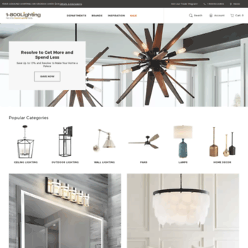 1-800 LIGHTING: New Customers Save 20% Off Our Already low Prices + Free Shipping On All Orders!