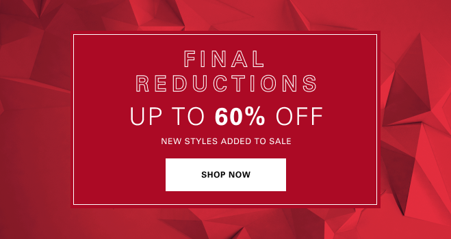 HUGO BOSS: Final Reduction – UP TO 60% OFF