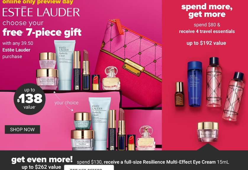 ESTEE LAUDER: Free 7-Piece Gift … Yours with any $45 purchase.