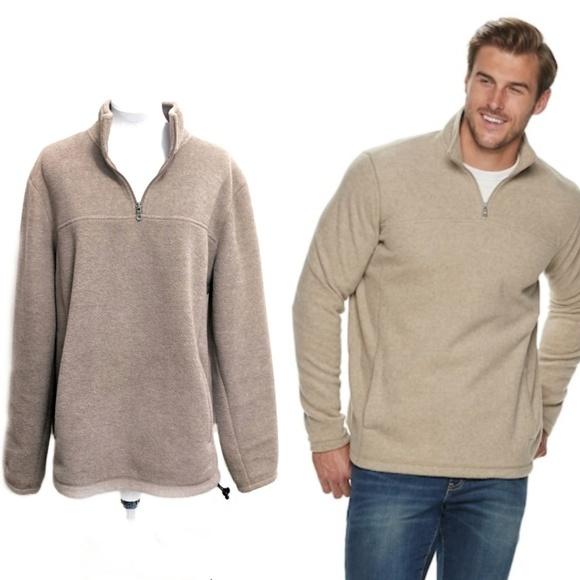 KOHL'S: Men's Croft & Barrow® Extra-Soft Arctic Fleece Quarter-Zip Pullover $7.65