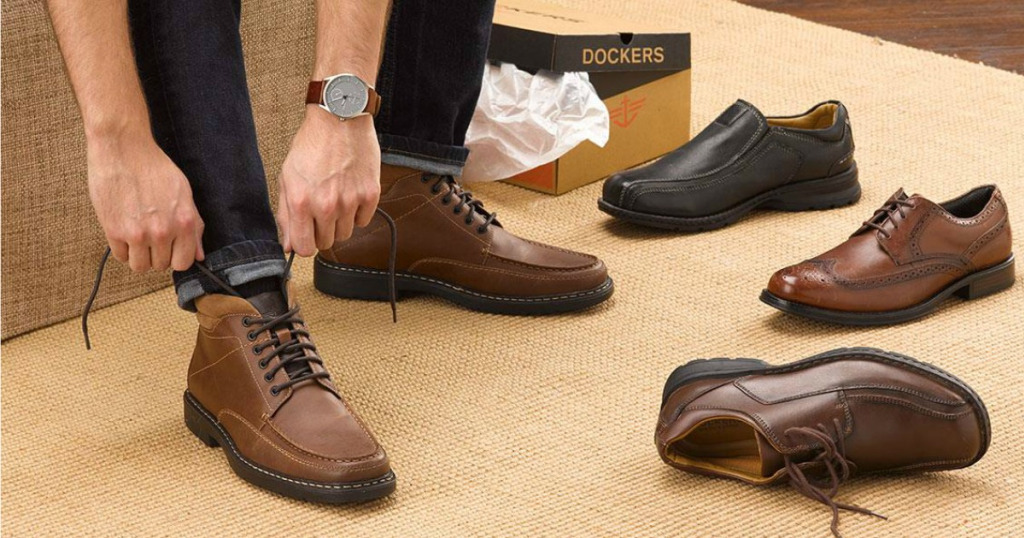 DOCKERS SHOES: Leader in men's dress and casual shoes, especially men's boat shoes