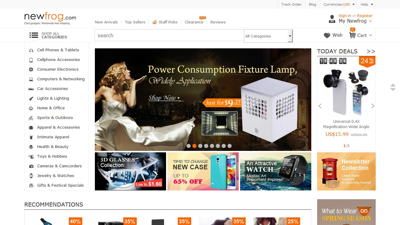NEWFROG: Best online electronics retailer, offers products and services