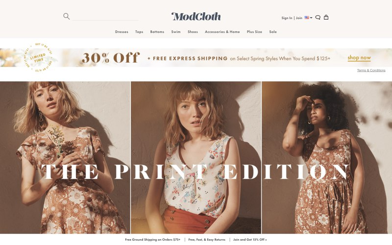 MODCLOTH: Women's Clothing: Dresses, Tops, Skirts & Shoes