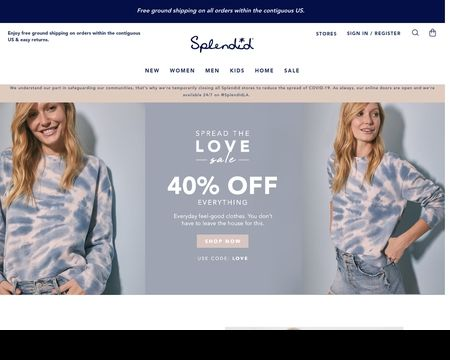 SPLENDID: Offers premium casual clothes for Women and kids that effortlessly combine super-soft, comfortable fabrics with on-trend styles. Shop today!