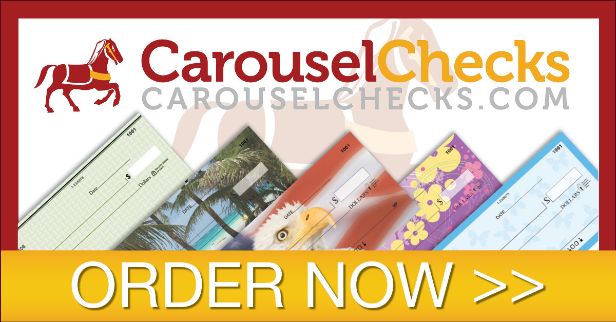 CAROUSEL CHECKS: Choose from over 3500 check products. Order checks online or call 708-613-2452. Fast shipping on cheap checks with prices starting at $2.39.