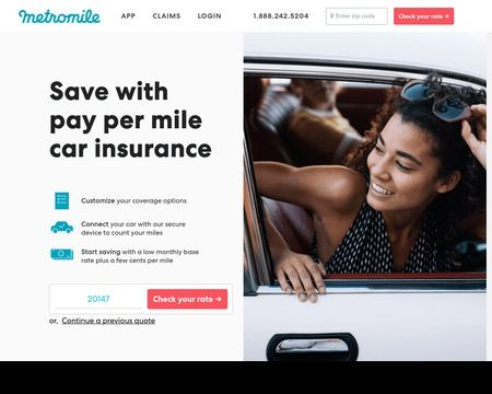 METROMILE INSURANCE: If you don't drive a lot, you shouldn't pay much for auto insurance. With Pay-per-mile car insurance, you could save hundreds every year.