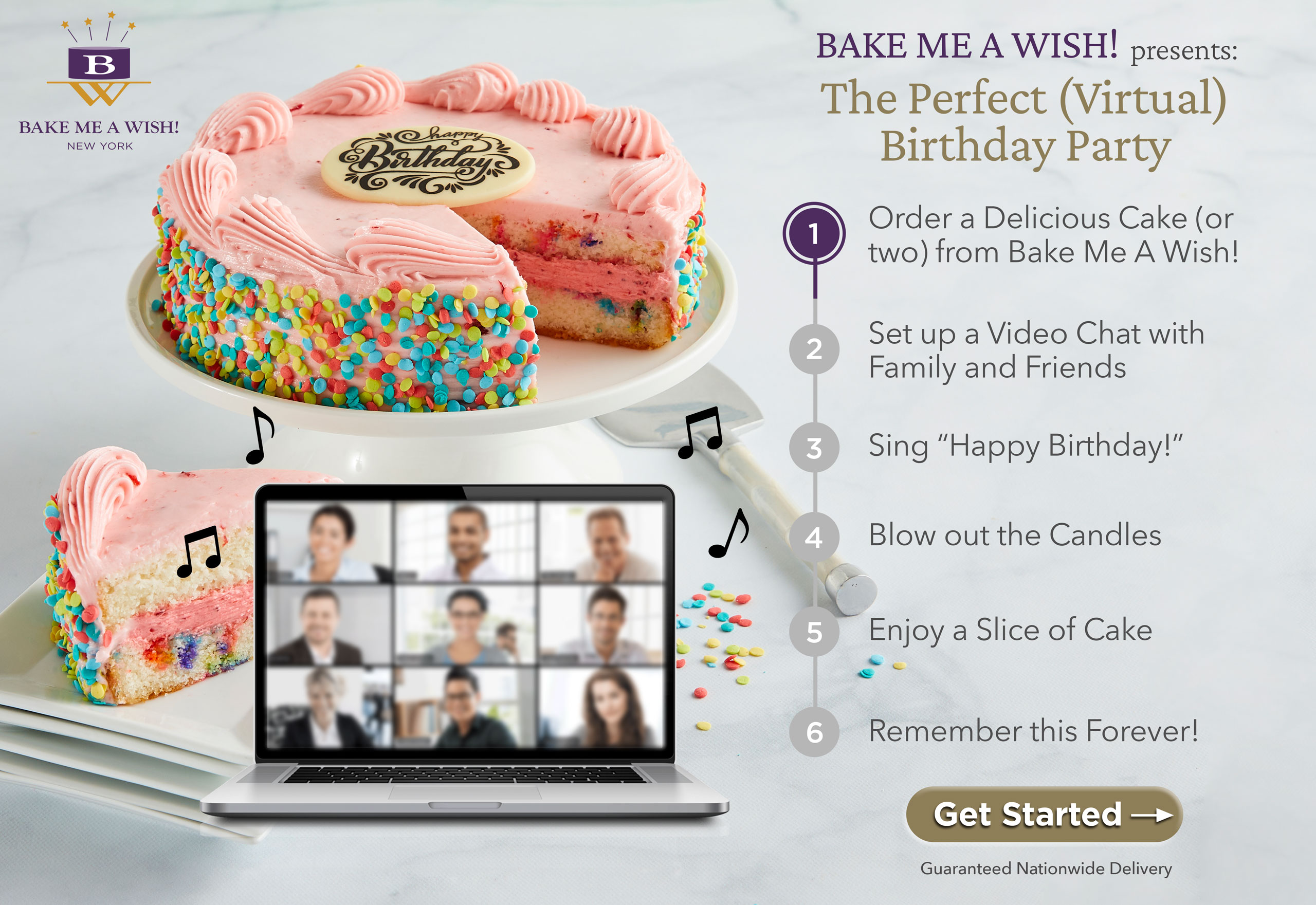 BAKE ME A WISH: Bake Me A Wish! gourmet cakes and bakery gifts are delivered overnight, nationwide