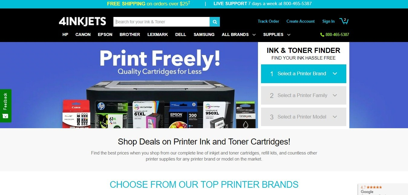 4 INK JETS: Save as much as 80% when you shop toner and ink cartridges for any printer