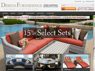 DESIGN FURNISHINGS: Find designer patio furniture and hand-woven outdoor wicker furniture for sale at Design Furnishings! We offer stunning garden furniture at discount prices.