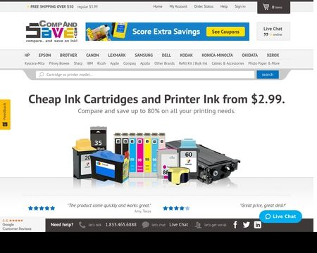 COMPANDSAVE:  Buy high quality cheap ink cartridges from $2.99 . Our cheap printer ink comes with  1-year free return.  Free shipping on $50+.