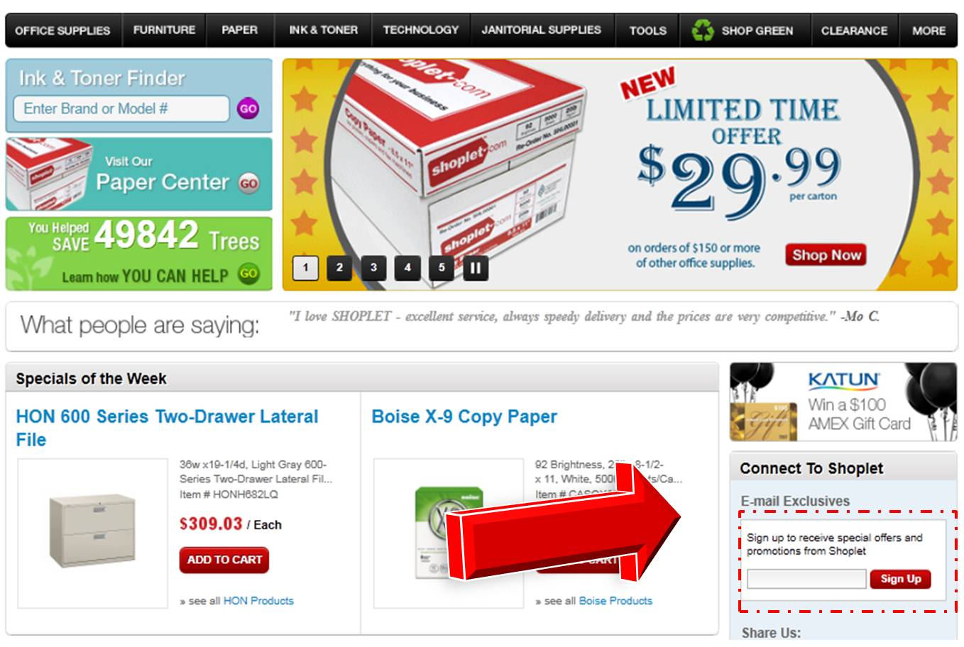 SHOPLET: Offers over 1000000 discount office supplies for your business and home at everyday low prices. Get free shipping on orders over $50