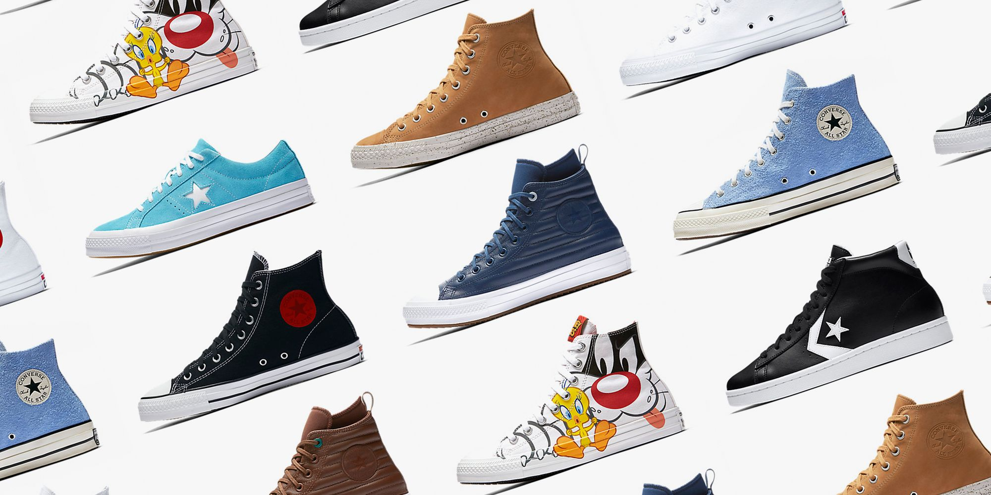 CONVERSE: Classic Colors & Durable Quality Make Converse One Of The Most Recognizable Shoes Around. Iconic Styles, Exclusive Collaborations, & Custom Designs.