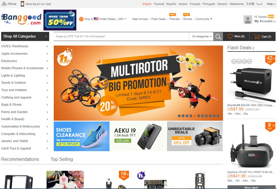 BANGGOOD: Save 80% Online Shopping for cool gadgets, toys, cell phones, headset, tv box, garden