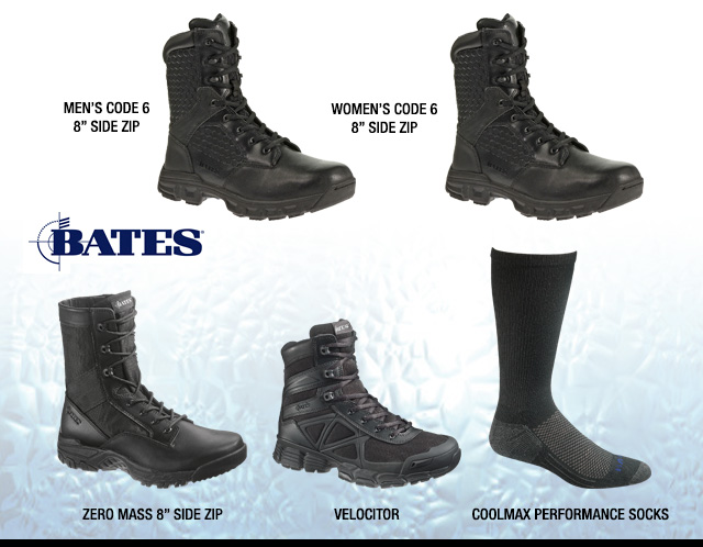 BATES FOOTWEAR: Innovative Technology, Quality Design, and Durable Comfort.