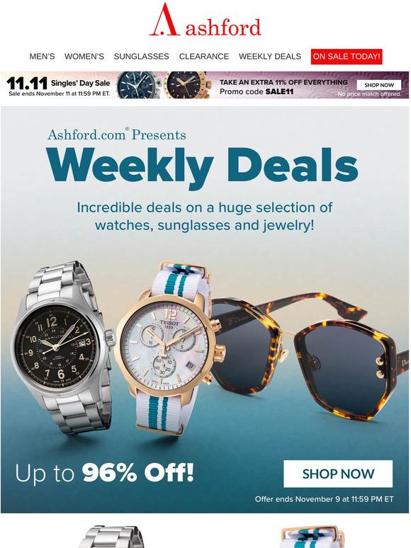 ASHFORD: Weekly Deals Up to 96% off on Designer Brands