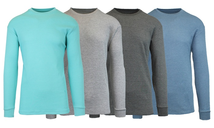 WOOTS: Galaxy by Harvic Men's Assorted Long Sleeve Thermal Shirt 4-Pack $19.99
