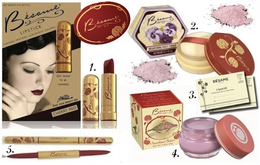BESAME COSMETICS: Bésame Cosmetics is a luxury vintage makeup brand which honors the style, spirit, & sensibility of female beauty.