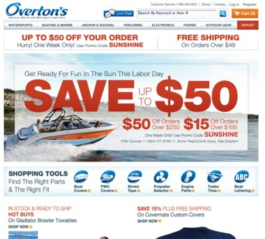OVERTON'S: Clearance – Up to 70% Off