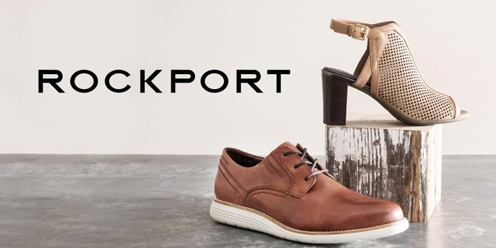 ROCKPORT: Collection of comfortable dress shoes, boots, flats, high heels, walking shoes, and more.