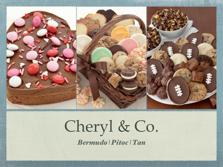 CHERYL AND CO: Send Cookies, Brownies & Gourmet Desserts From Cheryl's Cookies®, For Any Occasion!