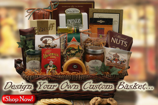 DESIGN IT YOURSELF GIFT BASKETS: Unique gift baskets handmade to order – including completely custom gift baskets. We guarantee you will be impressed.