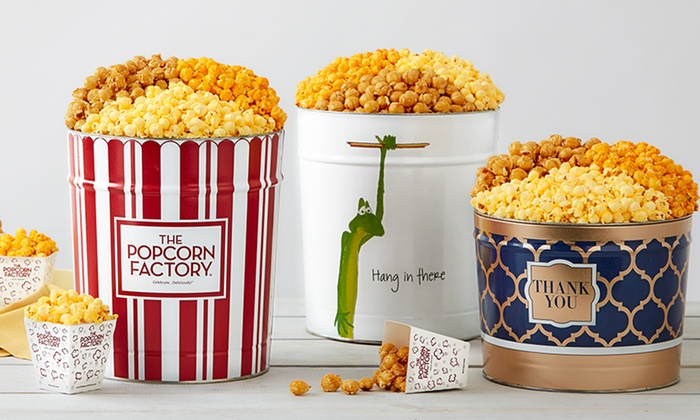 THE POPCORN FACTORY: The Popcorn Factory has great premium popcorn gift baskets and ideas for every occasion. Delicious popcorn gift sets and snacks in many flavors since 1979.