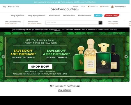 BEAUTY ENCOUNTER: 1000's of top perfume and fragrance brands at discounted prices on the net, sign-up for special promo coupons today!