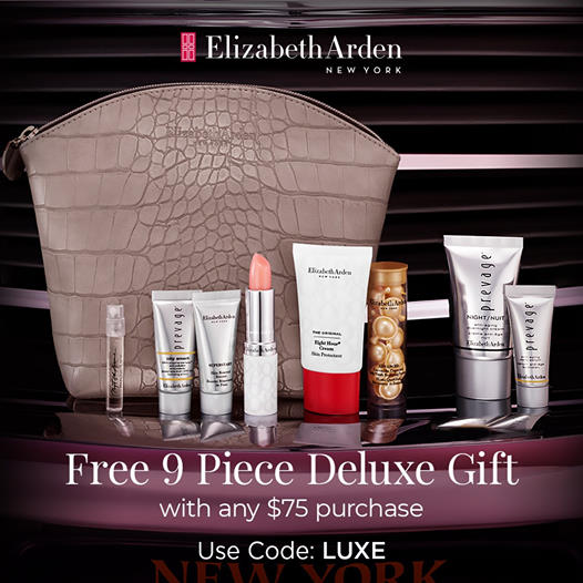 Elizabeth Arden: Free 9 Piece Gift with any $75+ purchase