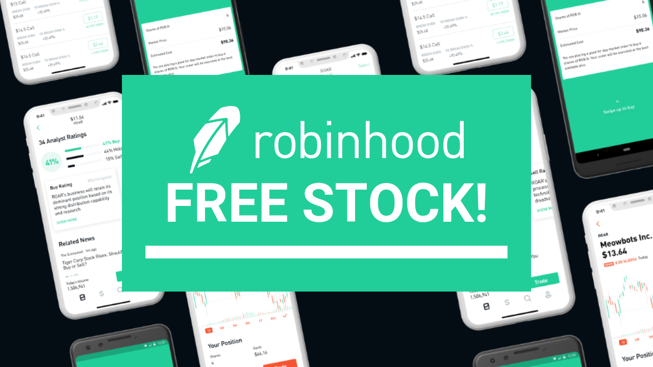 Robinhood Invest: Get free stock, and free commission trading.