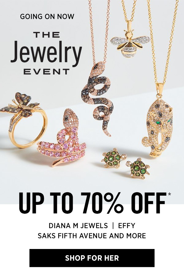 Saks Off 5th: Collect new jewelry & watches at up to 70% OFF