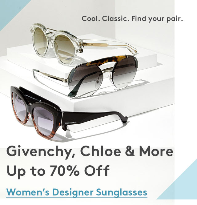 Givenchy, Chloe, Gucci, Dior & More Sunglasses Up to 70% off