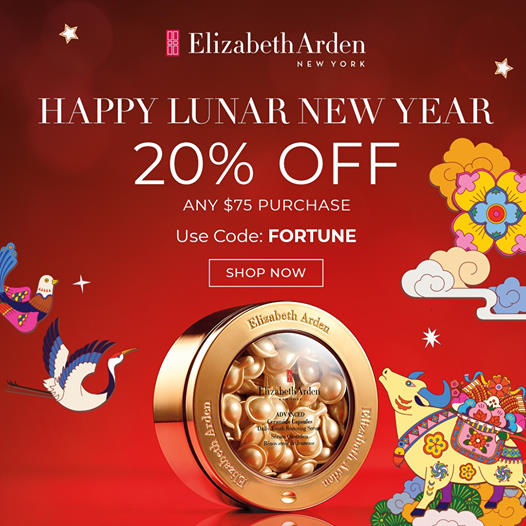 20% Off any $75 Purchase + 2 Free Gifts. Happy Lunar New Year!