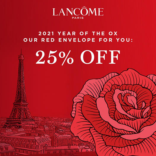 Lancome: Celebrate Lunar New Year with 25% Off sitewide!