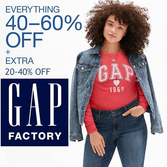 GAP Factory: Steals & Deals Up to 70% off