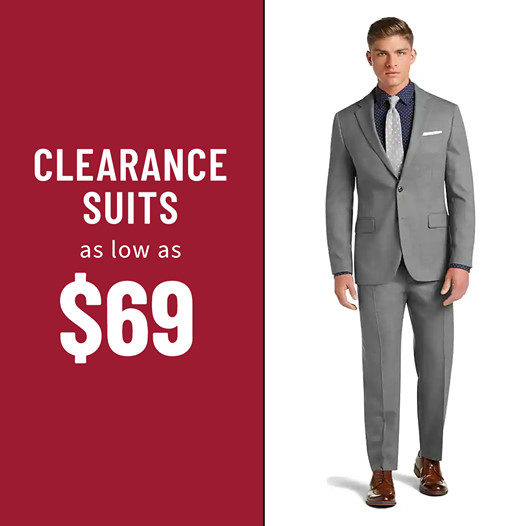 Jos. A. Bank : Clearance Suits as low as $69.00