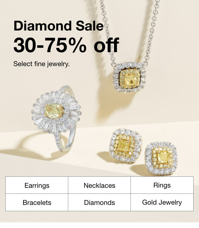 MACY'S:  Diamond Sale: 30-60% Off Fine Jewelry