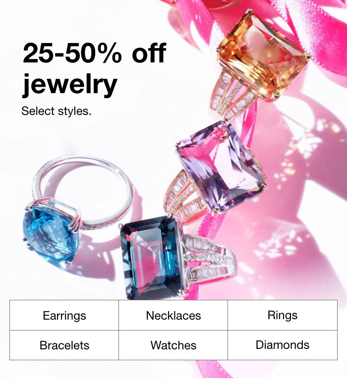 MACY'S : Go on & shine with 25-50% off fine jewelry + an extra 30% off