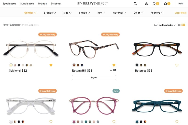 EYEBUYDIRECT: Up to 50% off on all 1,000 plus summer styles.