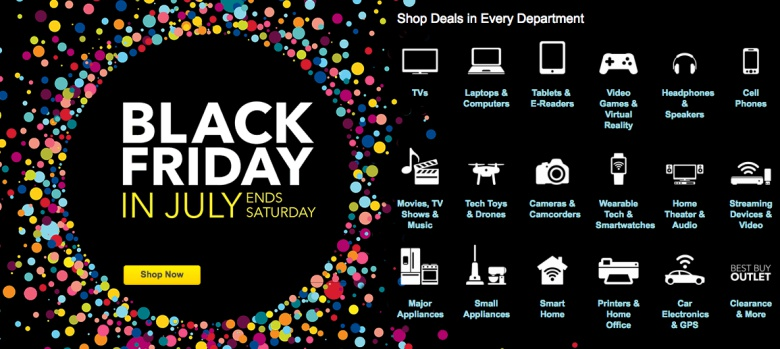 BEST BUY : The Black Friday in July is too good to forget about – big deals have dropped today