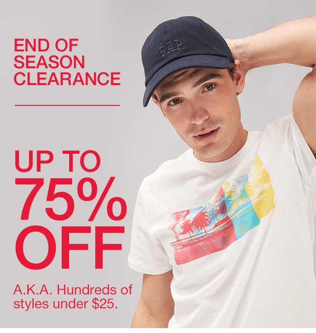 GAP: End of season clearance: up to 75% off