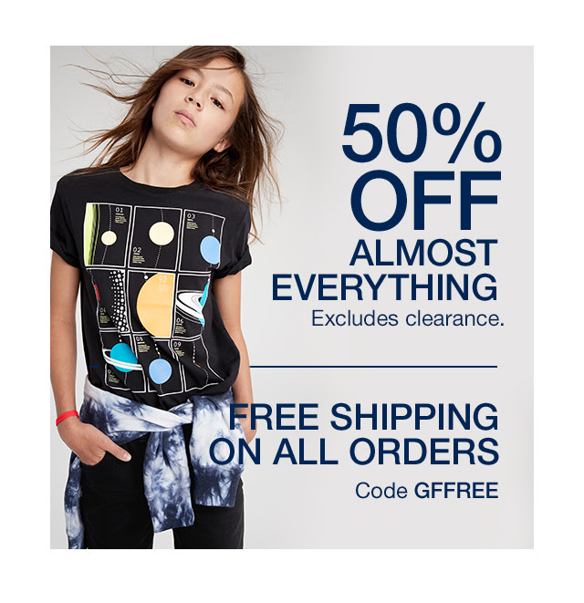 GAP: 50% off almost everything