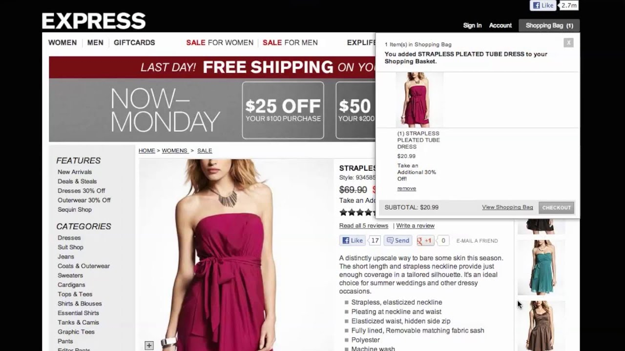 EXPRESS: Extra 50% Off Clearance Styles