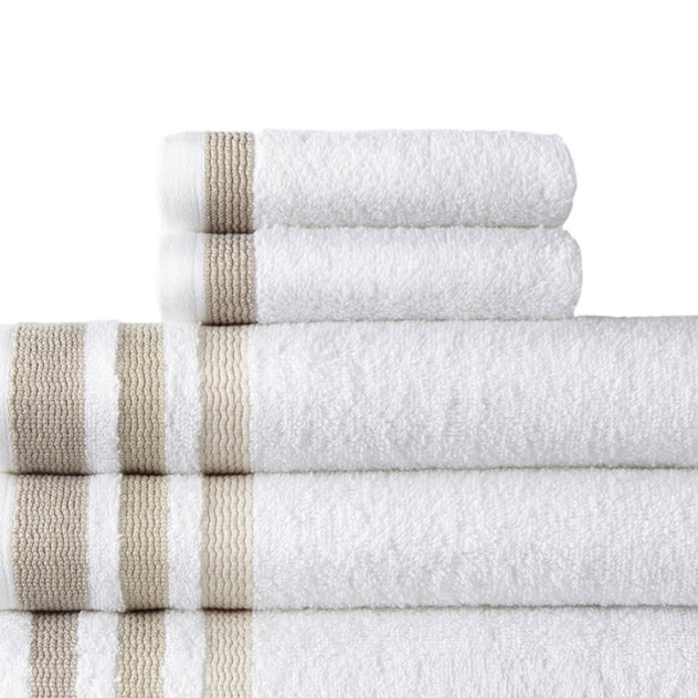 J.C Penney: Home Expressions Solid or Stripe Bath Towel Collection $1.62